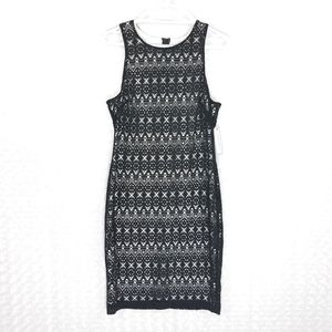 Bisou Bisou Black And White Sleeveless Dres